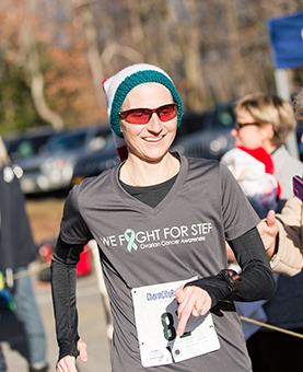 Stef running the Jingle Bell 5k 2016