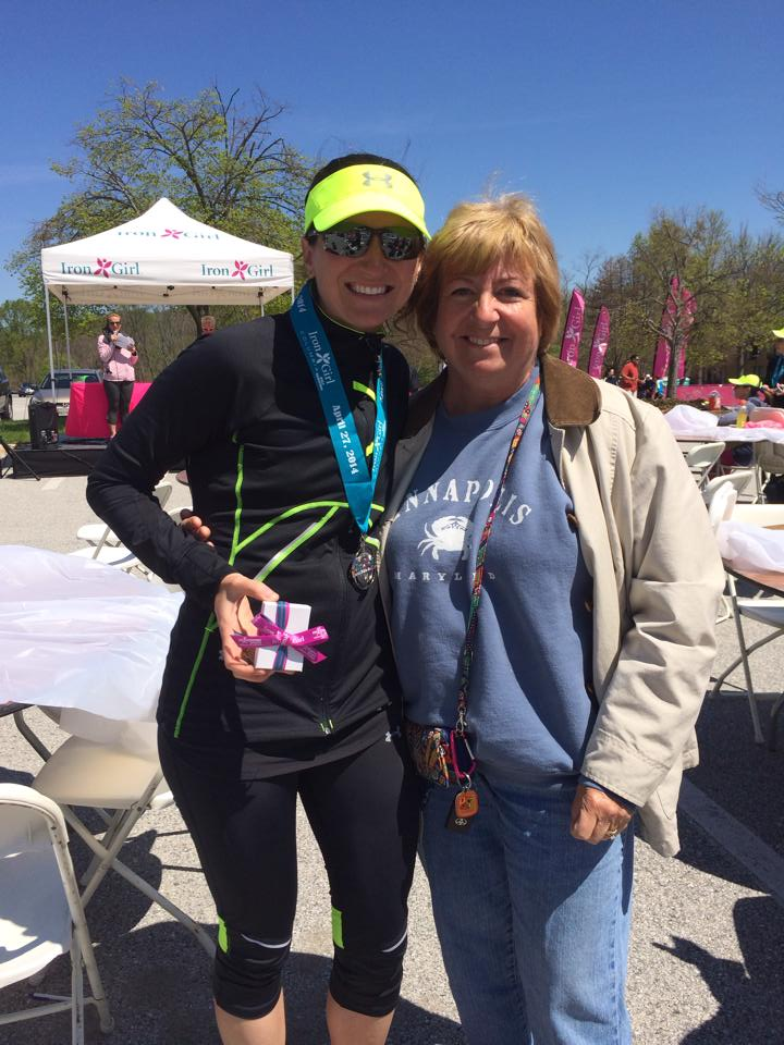 Stef and her Mom after race