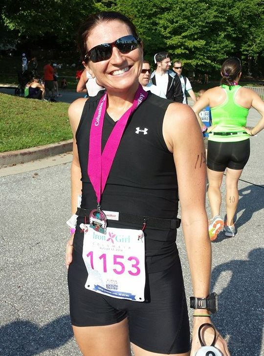 Stef after Iron Girl Race