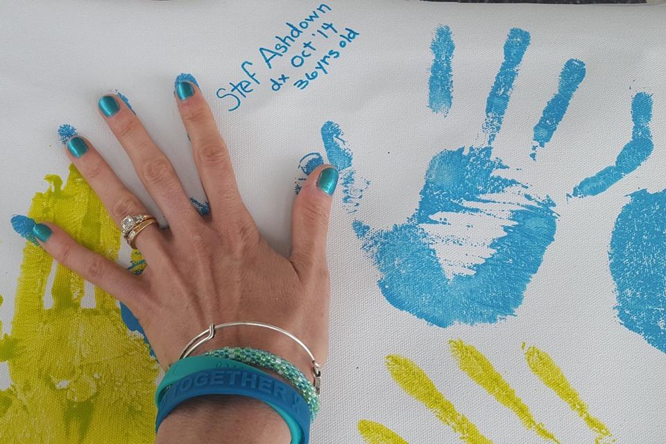 Stef's handprint