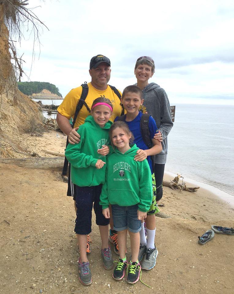 Stef and family at Calvert Cliffs
