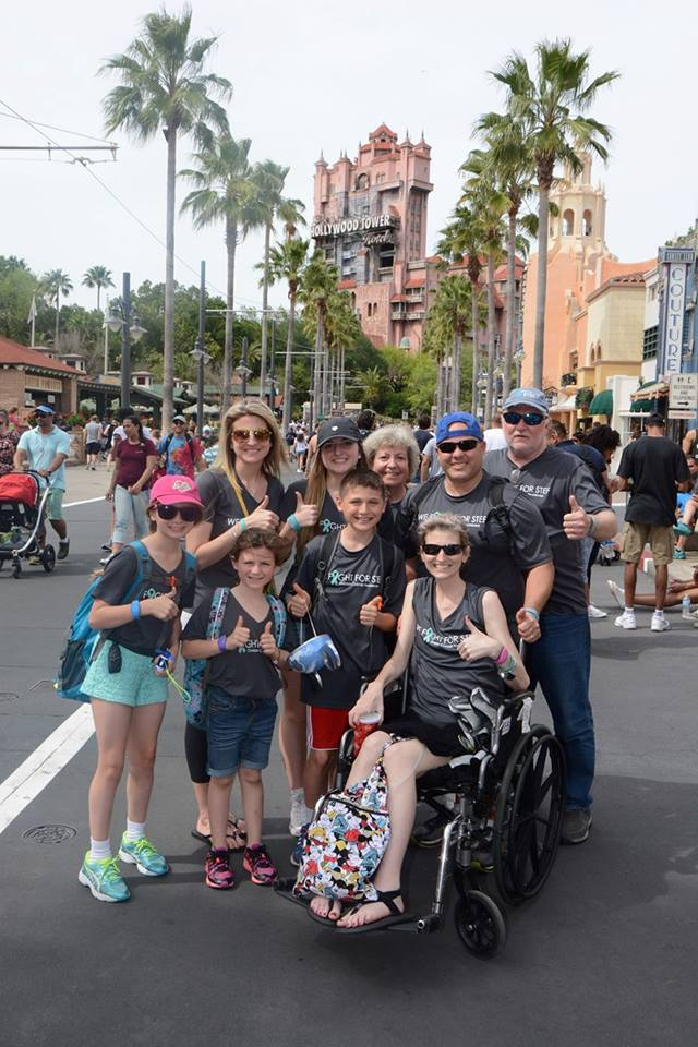 Stef and Family in Disney World