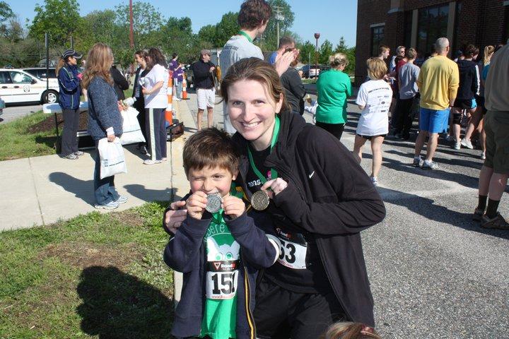 Stef and Owen Belvedere 5k winners